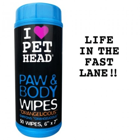 Lingettes parfumée Pet Head PAW AND BODY WIPES