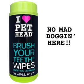 Lingettes dentaires Pet Head BRUSH YOUR TEETH WIPES