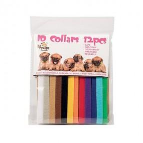 Lot de 12 colliers d'identification colorés pour chiots