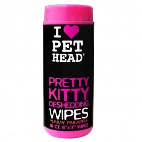Lingettes de toilettage chat Peat Head - PRETTY KITTY - par 50