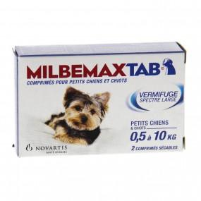 MILBEMAXTAB vermifuge  chiots de 0,5 à 10kg