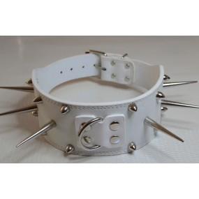 Collier Blanc à pics de 7 cm