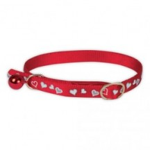 Collier Chat Coeur Rouge
