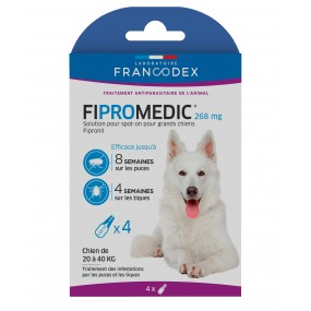 Pipettes Fipromedic Duo 268mg pour grands chiens par 4