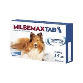 MILBEMAXTAB 1 Comprimés Unique vermifuge pourChiens + 5 KG