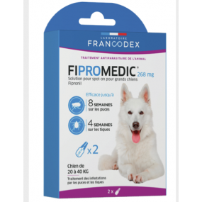 Pipettes Fipromedic Duo 268mg pour grands chiens x2